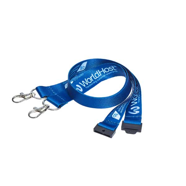 Doubleclip Lanyard - Conference Lanyard