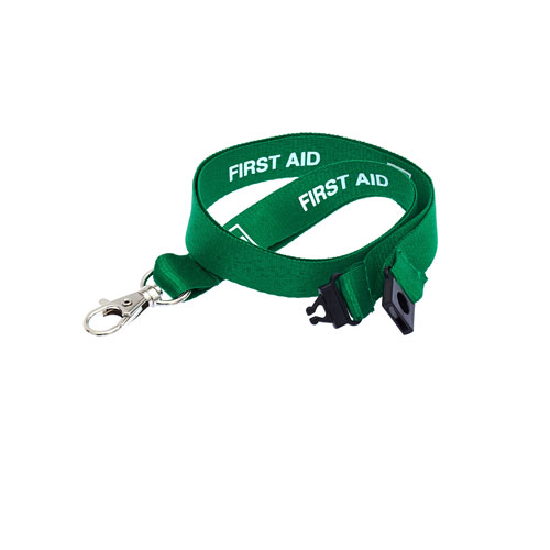 First Aid Lanyard - Pre-printed First Aid Lanyards