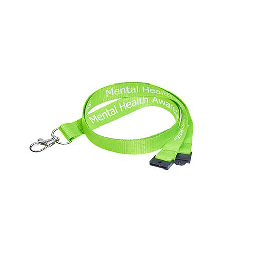 Mental Health Awareness Lanyard - Pre-printed Mental Health Awareness Lanyards