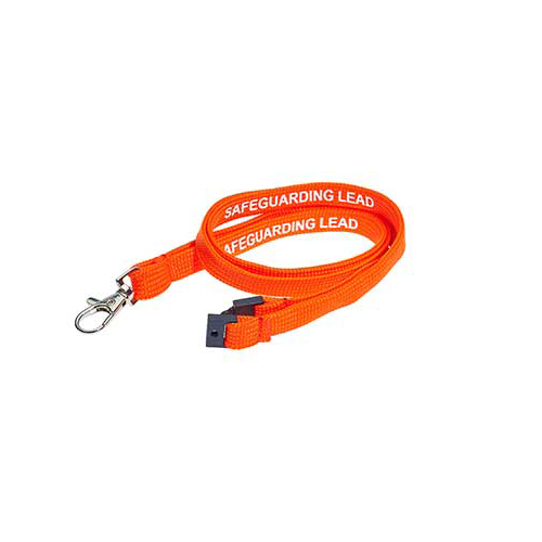 Safe Guarding Lead Lanyard - Pre-printed Safe Guarding Lead Lanyards