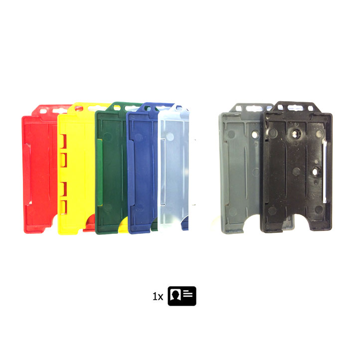 Rigid Plastic ID Cardholder - Single ID Portrait