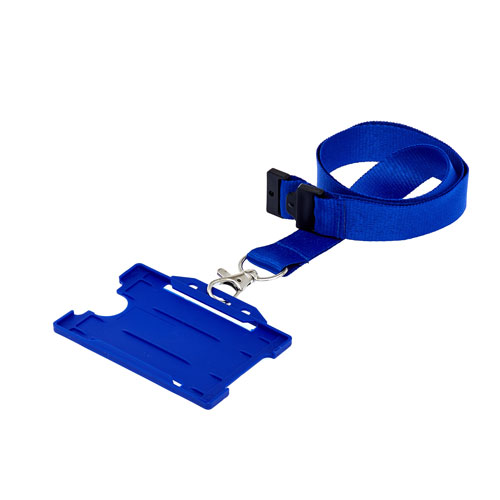 Blue ID Cardholder with Lanyard (not included)