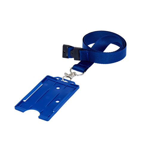 Blue ID Cardholder on a Lanyard (not included)