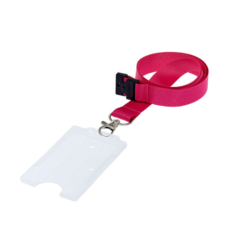 Clear ID Cardholder on a Lanyard (not included)