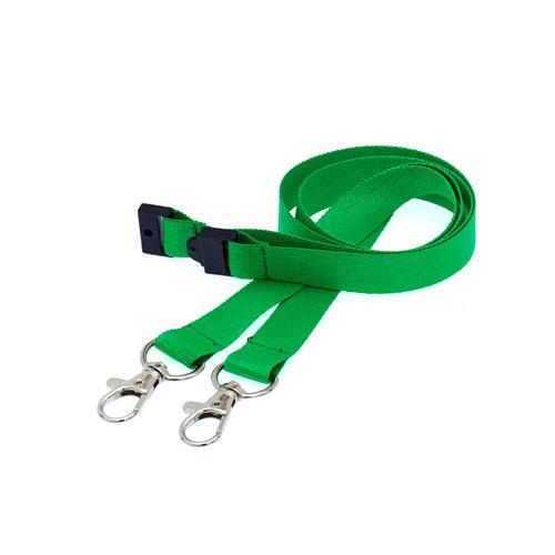 Green Doubleclip Lanyard