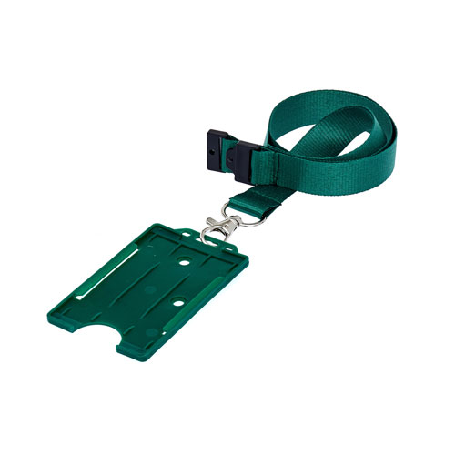 Green ID Cardholder on a Lanyard (not included)