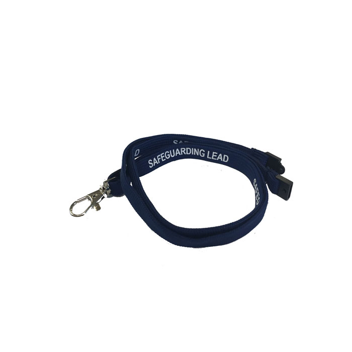 Navy Blue Safeguarding Lead Lanyard