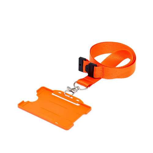 Orange ID Cardholder with Lanyard (not included)