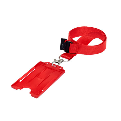 Red ID Cardholder on a Lanyard (not included)