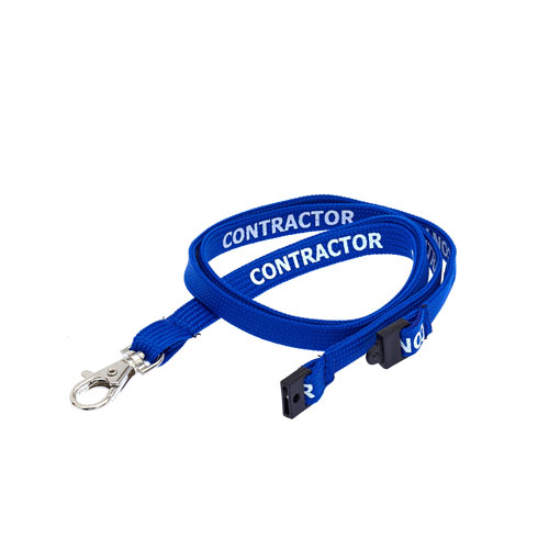 Royal Blue Contractor Lanyard