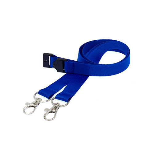 Royal Blue Doubleclip Lanyard