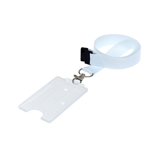 White ID Cardholder on a Lanyard (not included)