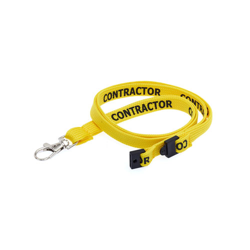 Yellow Contractor Lanyard