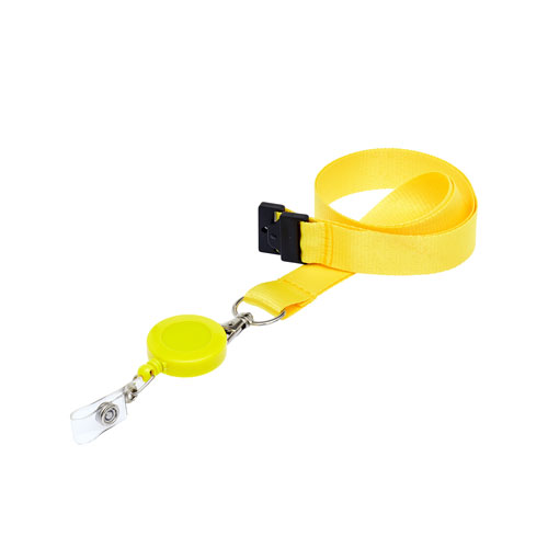 Yellow Retractable Reel on a Lanyard